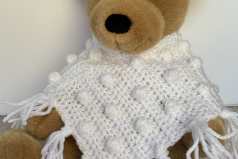 Build-A-Bear Popcorn Poncho Crochet Pattern